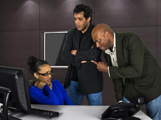 Fototapeta Workplace Issues or Office Harrasment obraz