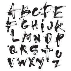Acrylic Vector Splatter Font