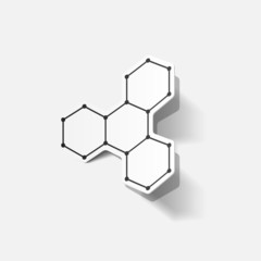 molecular structure, sticker