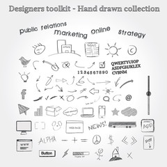 Designers toolkit - Hand drawn collection