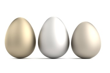 realistic 3d render of eggs
