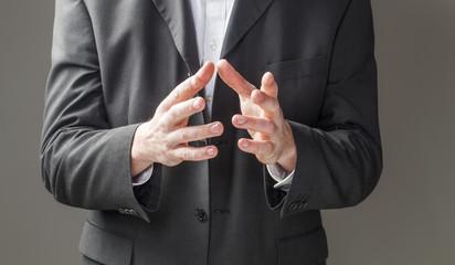 business man hands talking