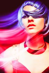 Space Girl, portrait concept
