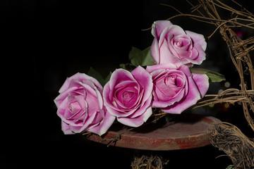 Four Long-stem Roses