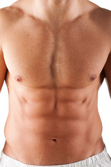 close up image of body of attractive young shirtless male