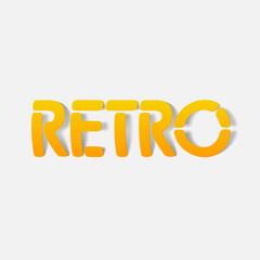 realistic design element: retro