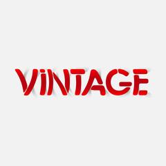 realistic design element: vintage