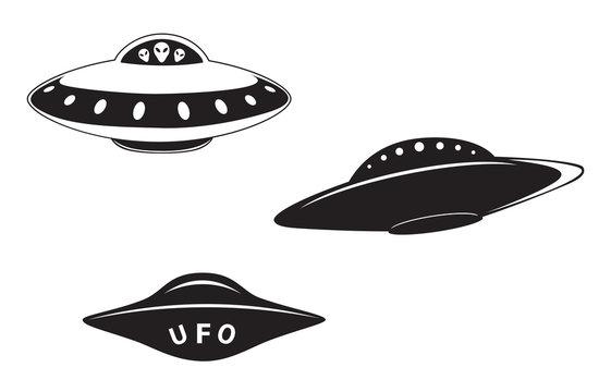 Set of flying saucers
