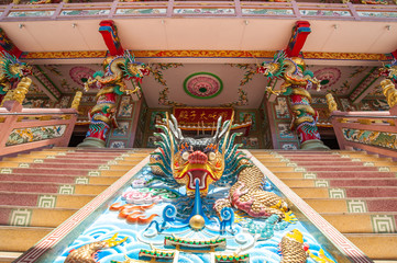 chinese dragon statue on naja temple , can be seen as a beautifu