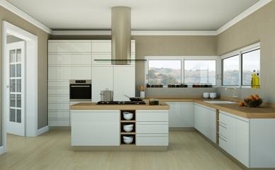 moderne Küche in Stadtwohnung