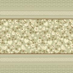 Background floral ornamental pattern