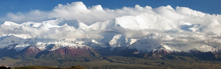 Lenin Peak from Alay range - Kyrgyz Pamir Mountain