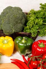 Keuken foto achterwand Keuken Bell peppers and other vegetables