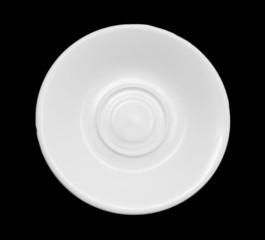 saucer on a black background