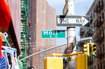 Mott Street in Chinatown, New York