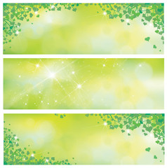 Vector spring nature banners.