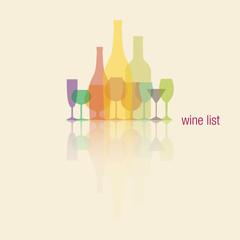 Wine menu riflesso