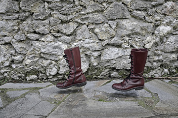 concept way of life, walking boots alone