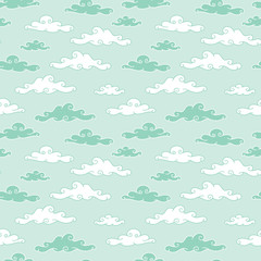 Clouds seamless pattern