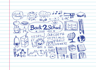 drawing school items Back to School Vector illustration