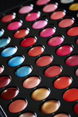 Colored eye makeup