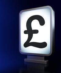 Currency concept: Pound on billboard background