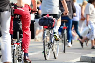 Fototapete - Crowd of bikes