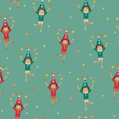 Seamless wallpaper with harlequins