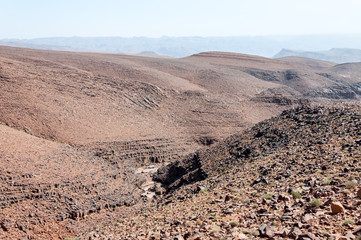 Canyon in Draa valley (Morocco)