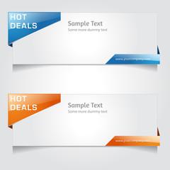 Web Banner Vector Design