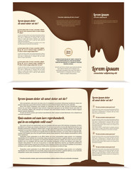 Threefold chocolate business brochure template