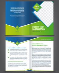Vector empty brochure template design