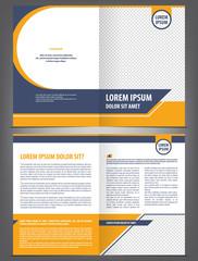 Vector empty bifold brochure template design