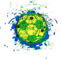 grungy soccer / football ball, vector eps 10
