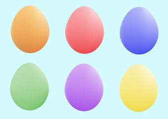 There are  many colored and nice easter eggs