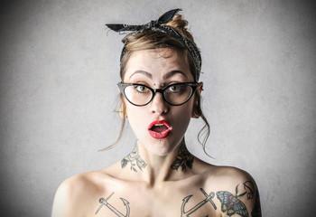 astonished girl