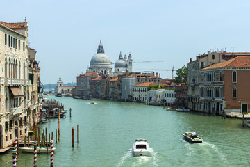 Italy , Venice. View of the Grand Canal