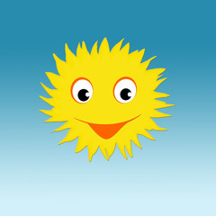 Sun with happy smiling face