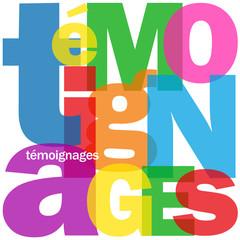 """Mosaïque de Lettres """"TEMOIGNAGES"""" (avis clients utilisateurs)"""