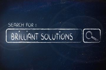 search engine bar, seeking brilliant solutions