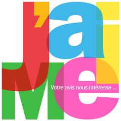 """Mosaïque de Lettres """"J'AIME"""" (recommander partager voter like)"""