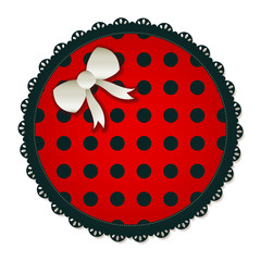 Round Red Polka Dot Sewing Patch
