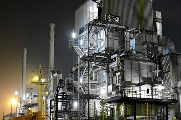 Foto op Canvas Industrial geb. Industrial complex at night