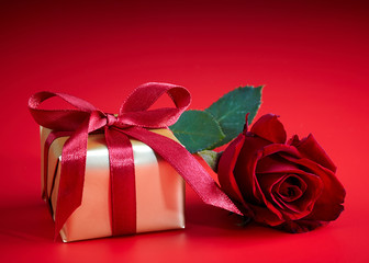 Gift box and rose