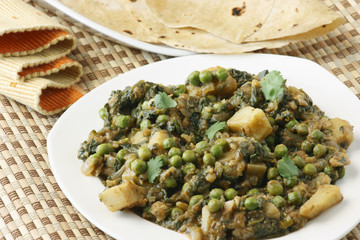Saag Matter it is an north Indian vegetable