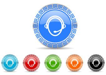 customer service icon vector set