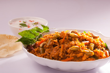 Spicy Mixed Vegetable Rice.