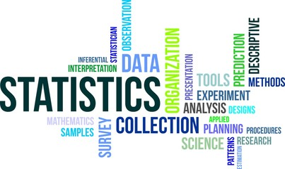 word cloud - statistics