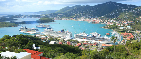 St Thomas harbor of US virgin islands Wall mural