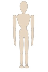 cartoon image of wooden mannequin